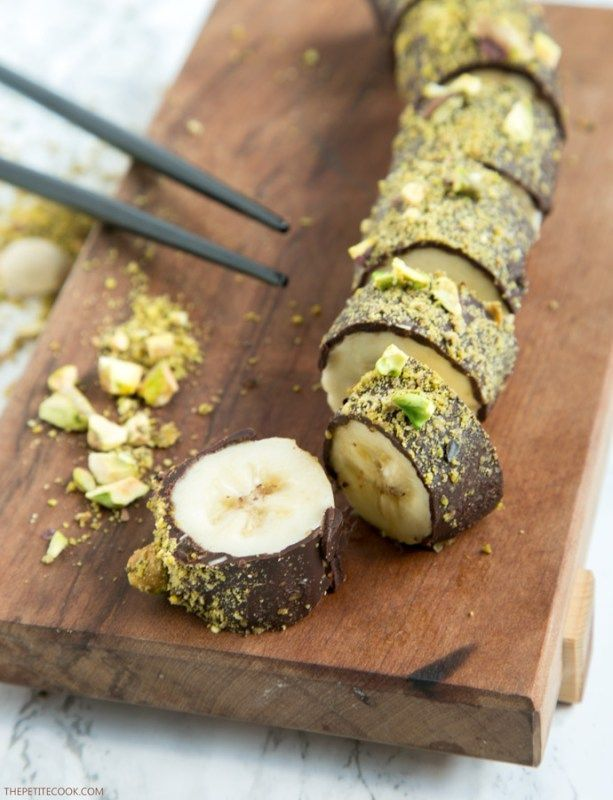 Super Pistachio Chocolate Banana Sushi - All you need is just 3  EF46