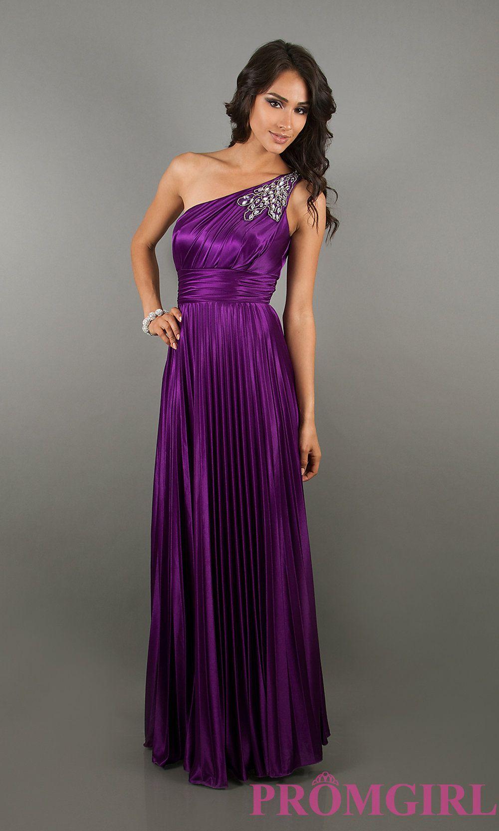 Long prom dress style dq front image purple pinterest