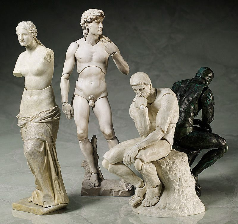 Classical Sculpture Action Figures Bring David And Venus De Milo To Life Famous Sculptures Roman Sculpture Art