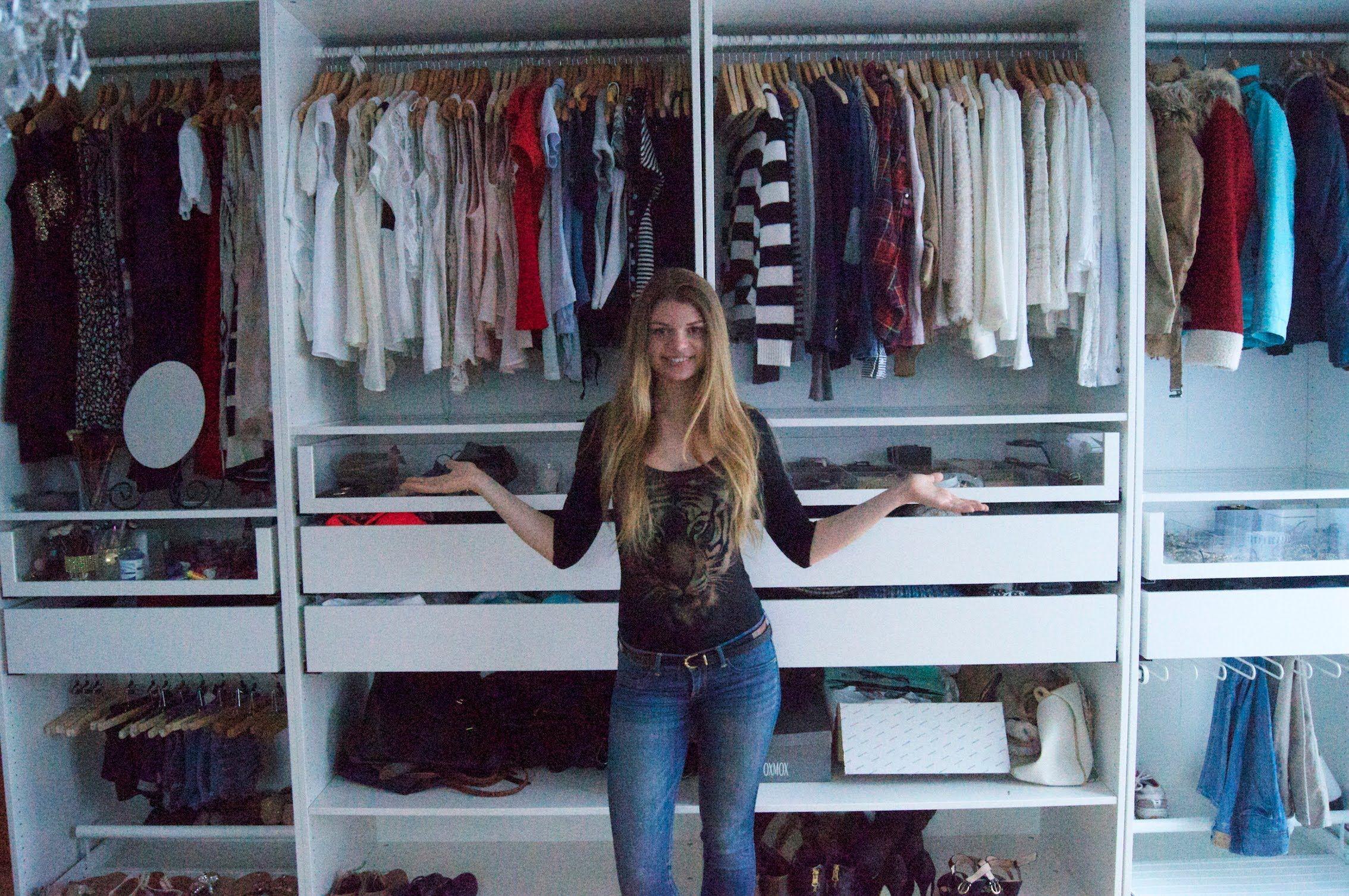 Vintage Mein Kleiderschrank Aufteilung Sortierung und Infos
