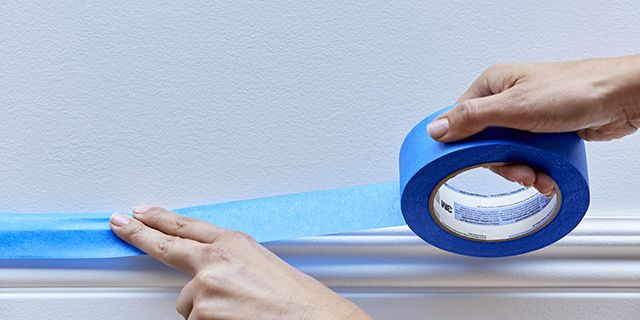 Great Steps By Scotchblue On How To Apply Tape Before You Paint Get That Clean Line Tape Painters Tape Learning