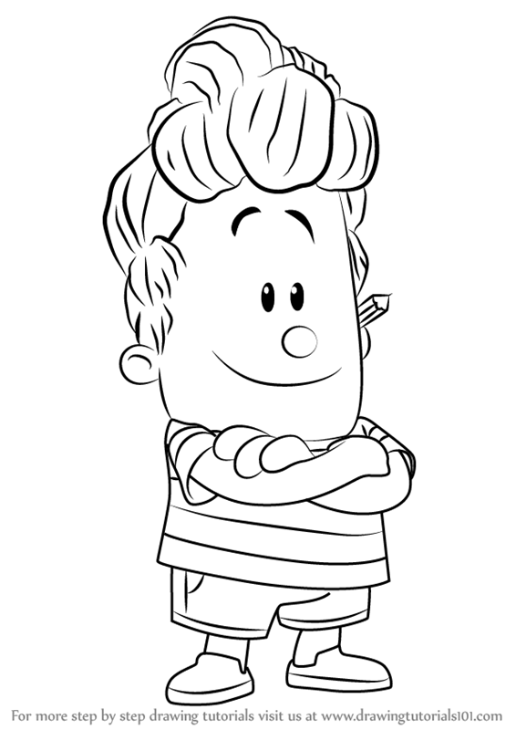 Learn How To Draw Harold Hutchins From Captain Underpants Movie Captain Underpants Movie St Captain Underpants Captain Underpants Toys Cartoon Coloring Pages