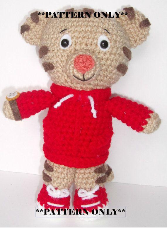 Crochet Daniel Tiger PATTERN ONLY Inspired by by YarnForRowyn ... e08bbf4796f