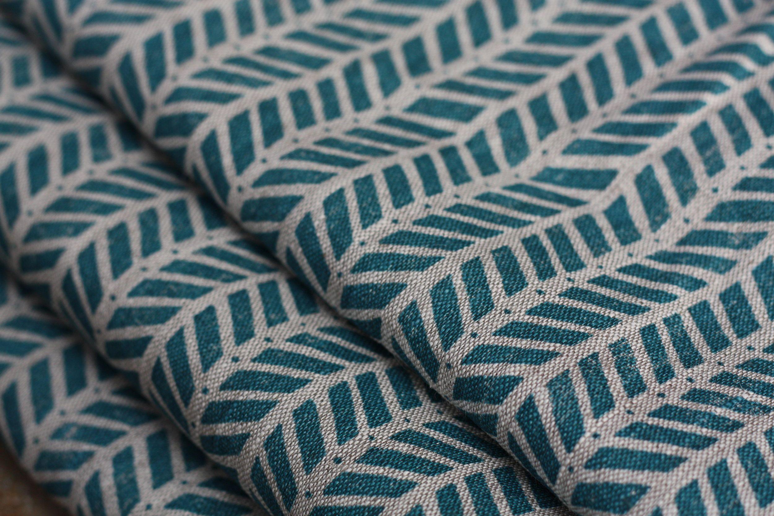 Mottram meadow teal on natural in covet pinterest new