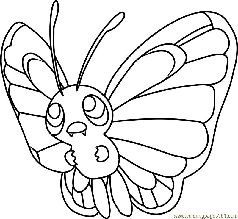 Butterfree Pokemon Coloring Pokemon Coloring Pages Pokemon Coloring Sheets