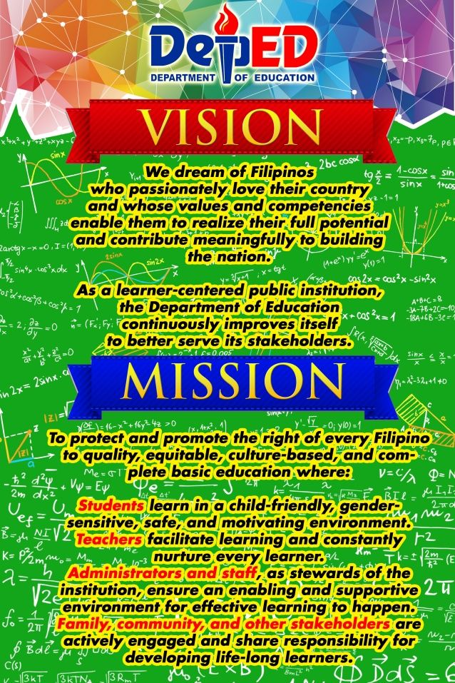 Deped Standard Classroom Design ~ Deped mission and vision dep ed