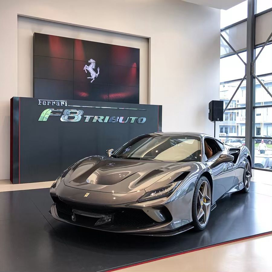 Swizzcars On Instagram Presentation Of The Ferrari F8 Tributo At Modenacars The Car Looks Super Nice In This Configuration Sports Car Ferrari Luxury Cars