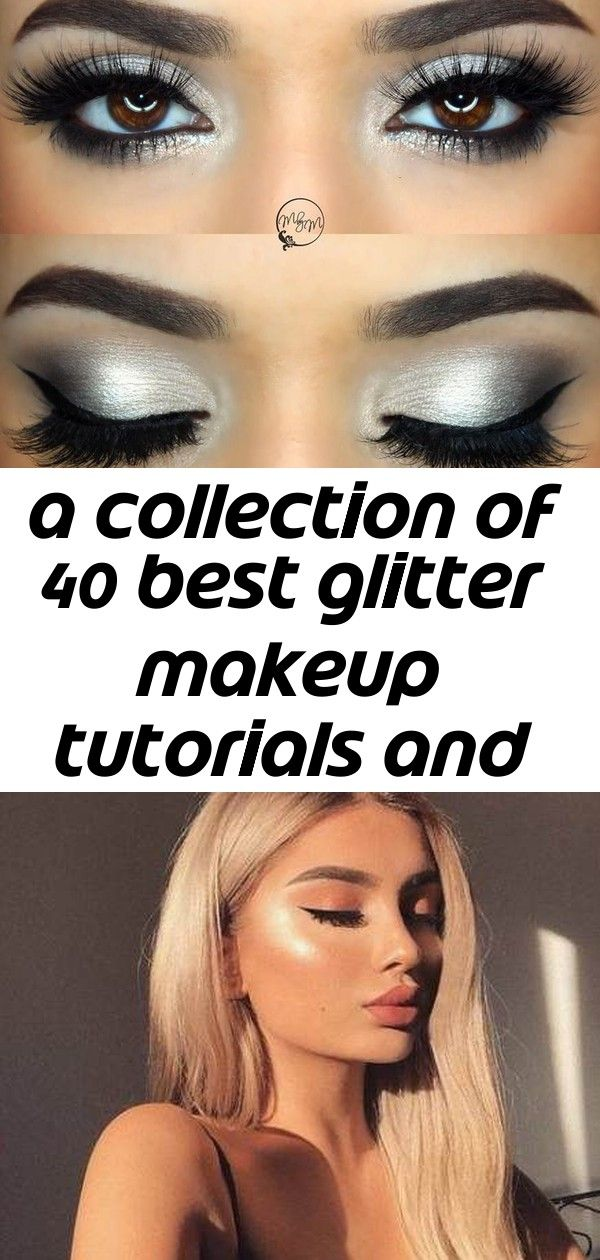 A collection of 40 best glitter makeup tutorials and ideas 2020 4 #glittereyeliner