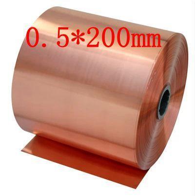 0 5 200mm High Quality Copper Strip Sheet Skin Red Copper Purple Copper Foil Copper Plate Hardware Diy Copper Foil Metal Sheet