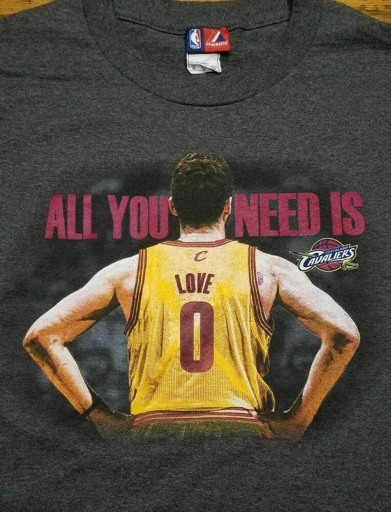 Cleveland Cavaliers NBA Basketball t-shirt All You Need is Love  0 Adult XL 16d12b93c