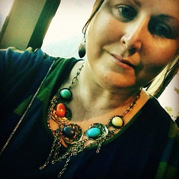@Wild Cheer Bling necklace perfect for a night out in Melbourne.  Tunic by @Theresa Saylor Plus