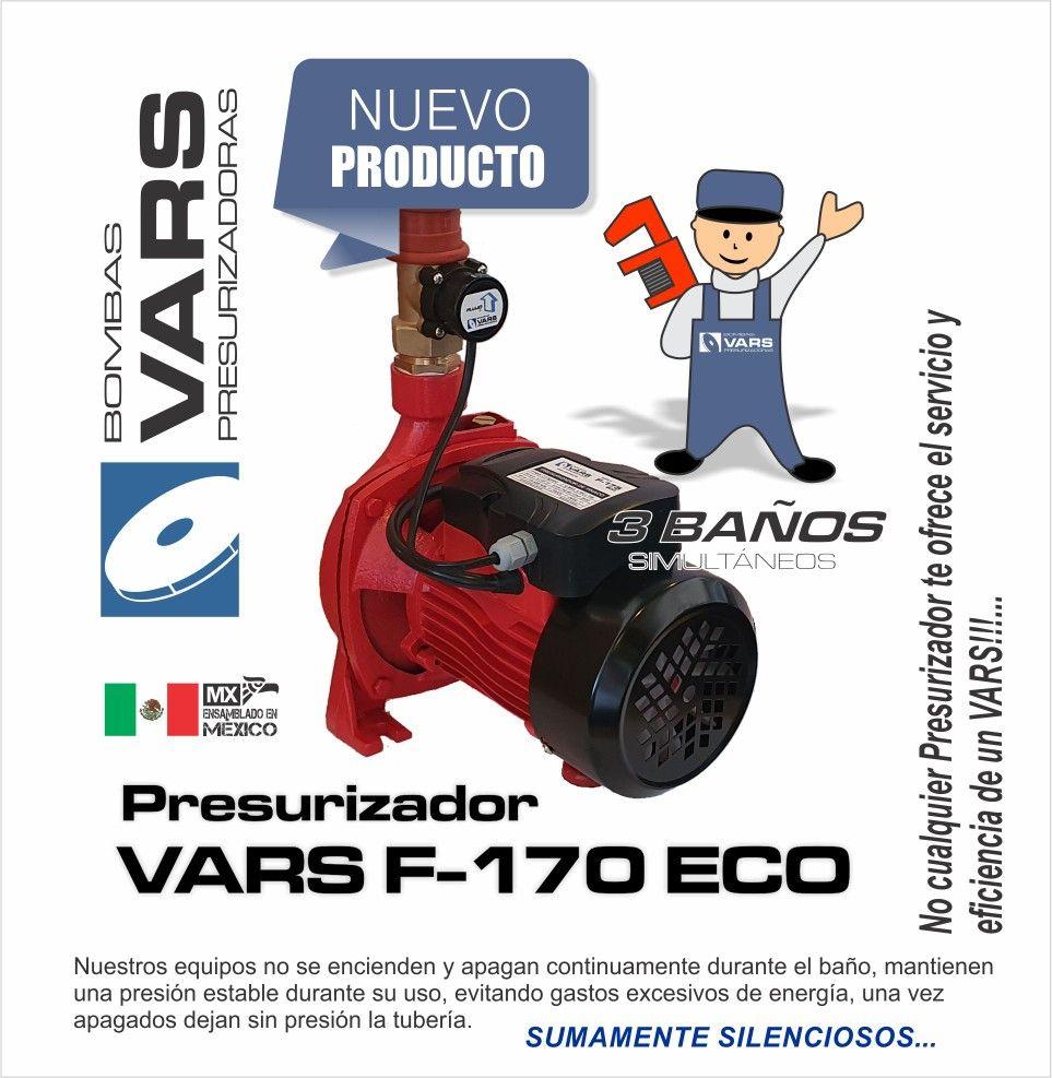 Presurizador VARS F170Eco (línea económica) Aumenta la