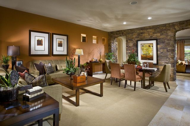Brown Living Room Furniture Decorating Ideas images