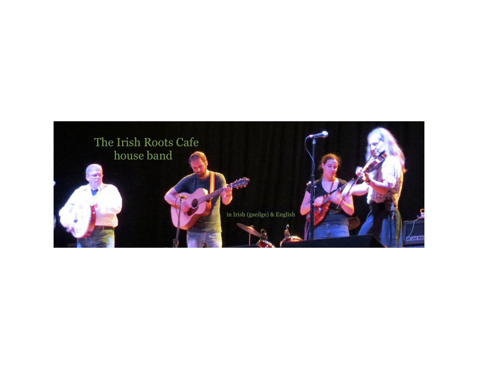 The Irish Roots Cafe house band, At the Granada Theater in Lawrence. Our second appearance, first time with Rob and Megan !