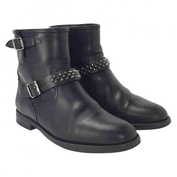 Pre-owned - Leather biker boots Saint Laurent CDWWpEh