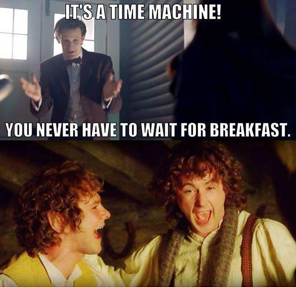 Who else is up for second breakfast on the TARDIS?
