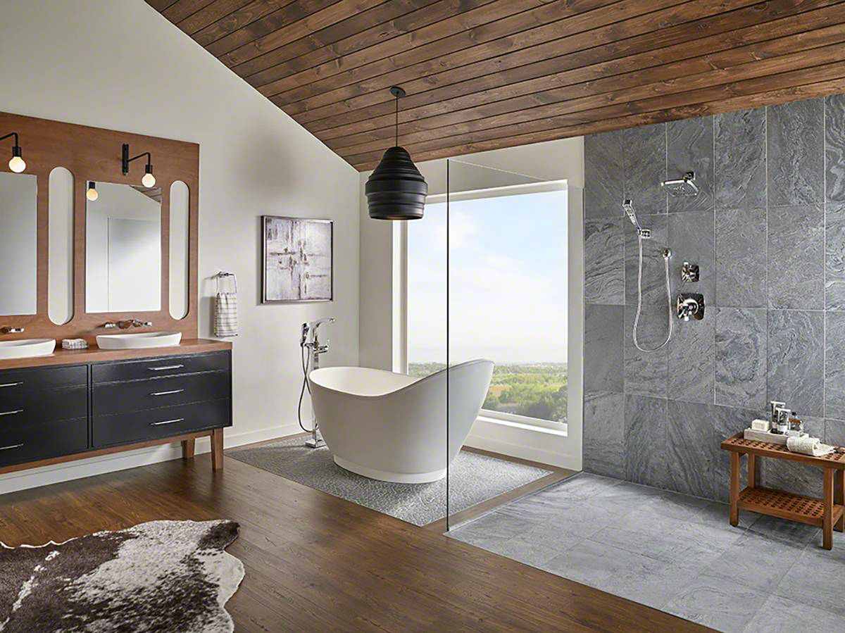 5 Places To Use Natural Stone In Your Home Stone Floor Bathroom