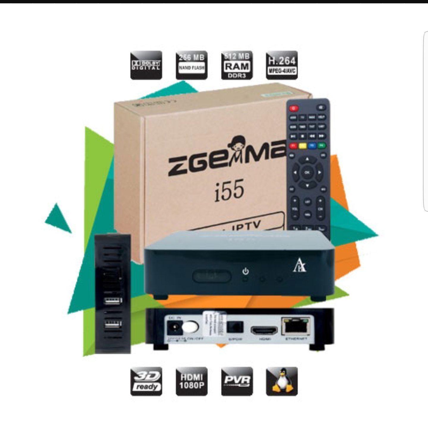 NEW MODEL) Iptv zgemma i55 box with full 12 months full iptv