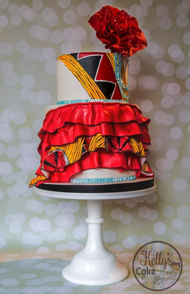 Cake Inspired by a Vlisco gown, worn by Rachel Mwanza in 2013