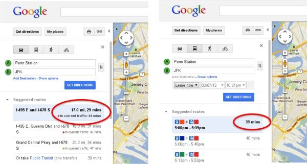 Google Maps Now Includes Real Time Traffic Data Maps Traffic