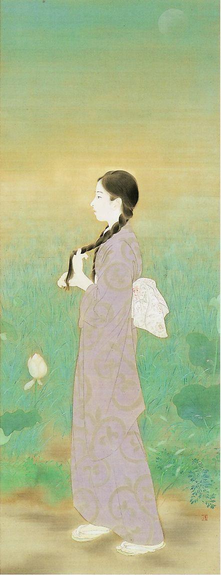 鏑木清方 朝涼 1925年 | 絵画, 日本画, 小原古邨
