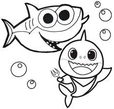 Baby Shark Pinkfong Coloring Pages is the first book to ...