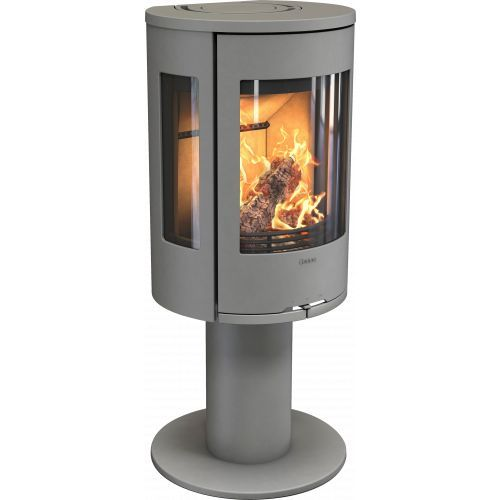 Contura 586 Style fireplace stove on pedestal with steel doo…