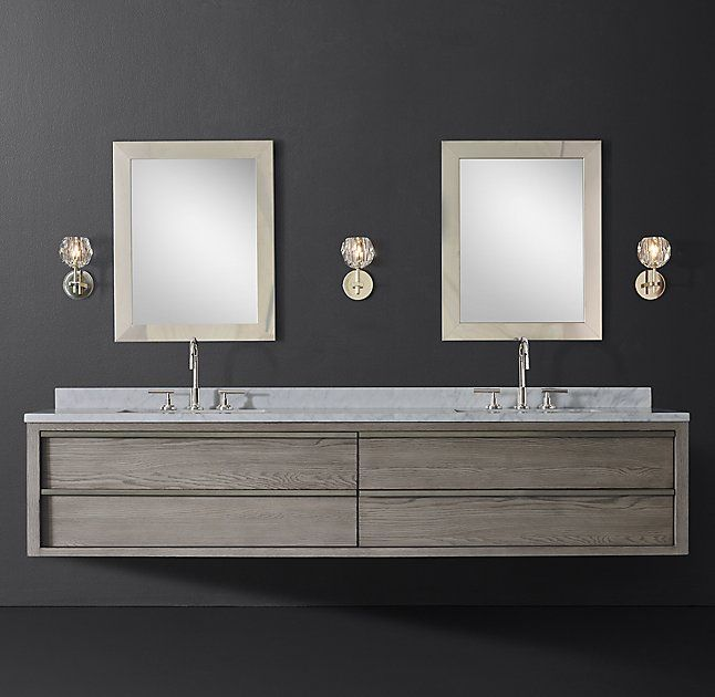 Extra Wide Double Bathroom Vanity bezier double extra-wide floating vanity | yale ave. | pinterest