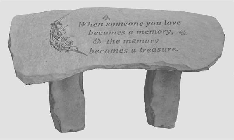 Memorial Garden Bench When Someone Becomes A Memory Memorial Benches Memorial Garden Cast Stone