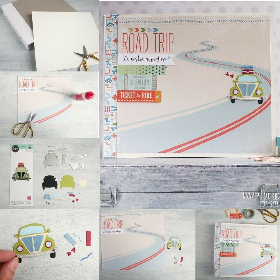 Open Road Mini Album Perfect For Papercrafters. A Great