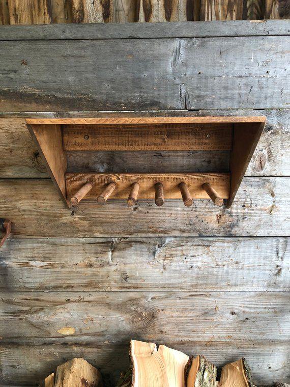 Wall Mounted Wooden Wellington Boot Rack