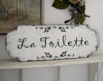 Shabby Chic Kitchen Signs : Bon appetit french kitchen signs shabby vintage style 14 x