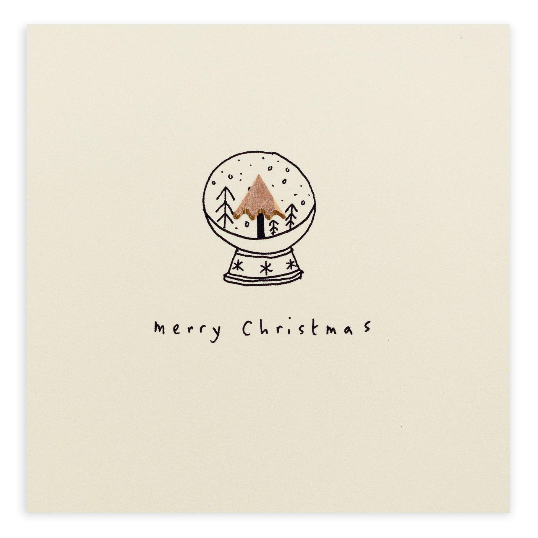 Nothing says Christmas like a beautiful snow globe   Xmas Card ...