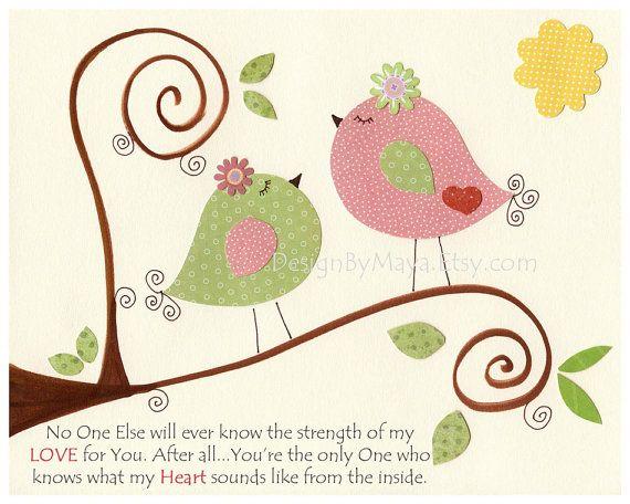 Arte de pared de la habitaci n ni a guarder a impresi n for Cuarto de nina rosa palido