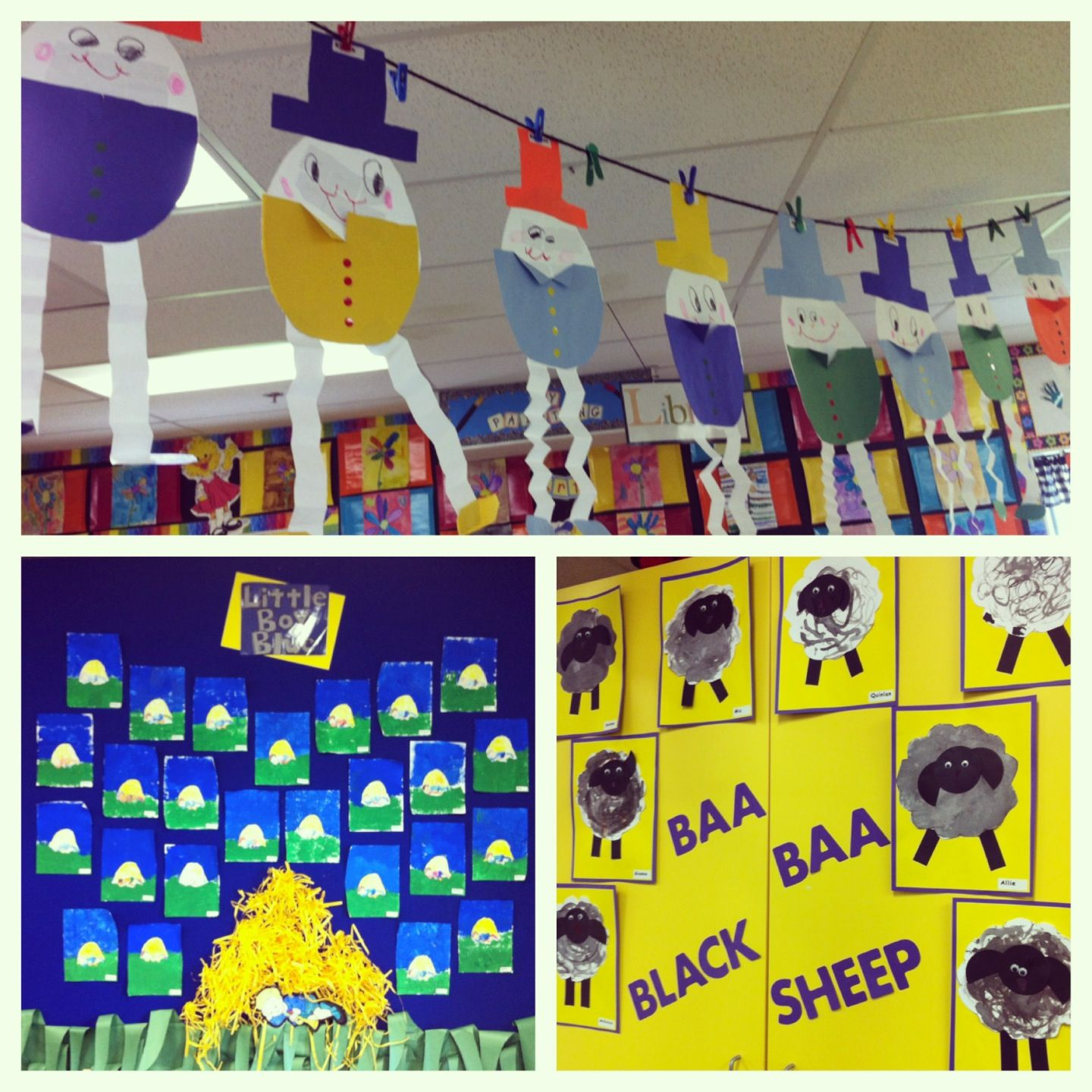 Nursery Rhymes Bulletin Boards In Kindergarten Humpty Dumpty Little Boy Blue And Baa Baa