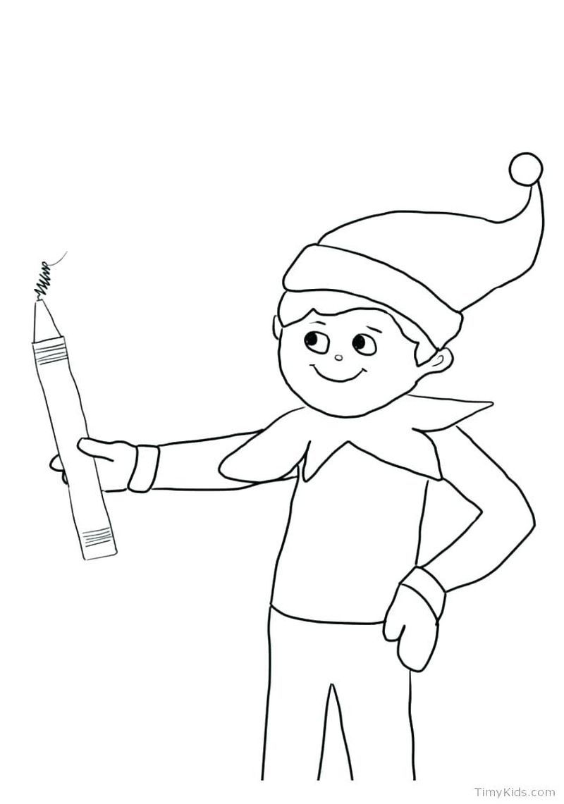 Free Elf Coloring Pages Printable