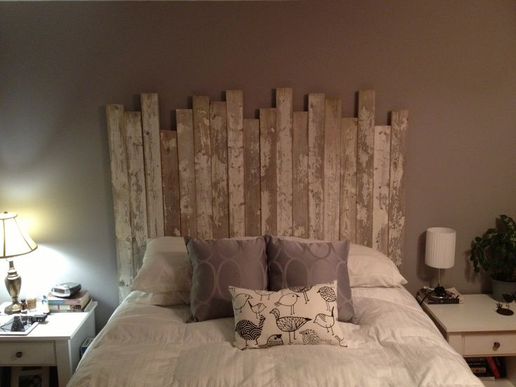 Striped Cream Grey Wood Combine Homemade Headboard Ideas With White Bedding  And
