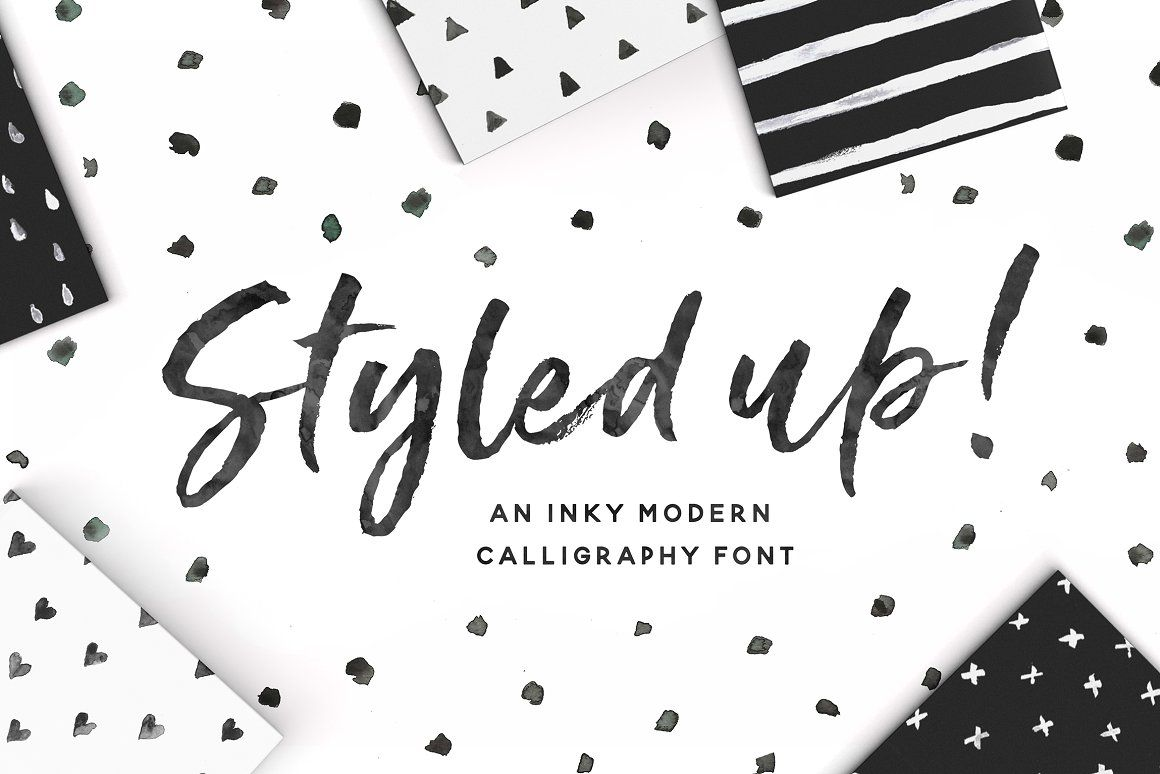 Styled up!Brush Calligraphy Font Duo - Script