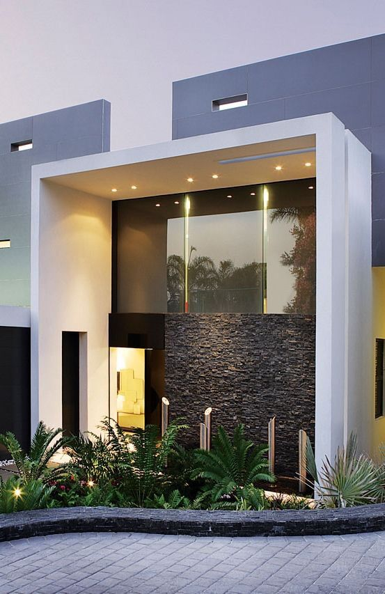 Pin de en styling en l l pinterest fachadas for Casa moderna 4279
