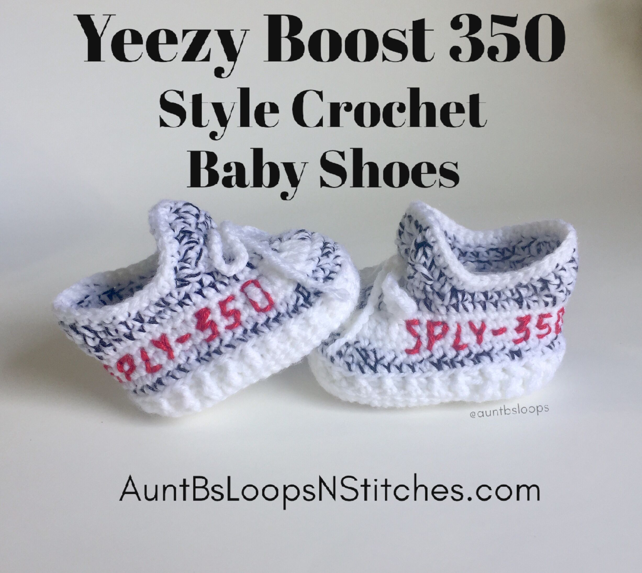 Crochet baby shoes, Baby yeezy shoes