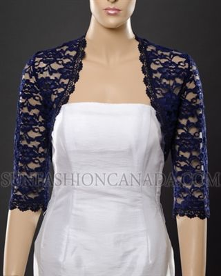 Made In Canada We Specialize In Hand Made Lace And Fur Wedding Boleros Wedding Jackets Evening Shrugs We Navy Lace Dress Mother Of Groom Dresses Lace Shrug