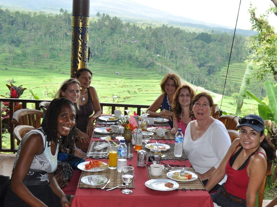 Lunch and fantastic view - Bali 2010