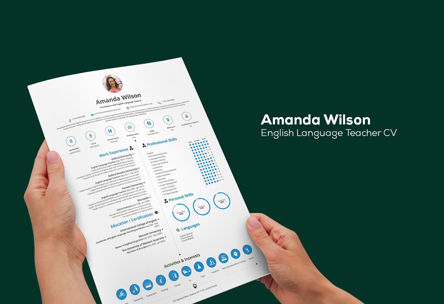 Get your infographic CV in minutes using interactive real