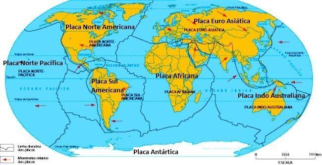 Resultado De Imagem Para Mapa Das Placas Tectonicas Placas