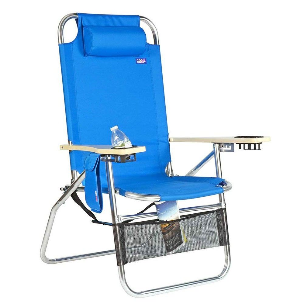 Copa Big Papa 4 Position Folding Aluminum Beach Lounge Chair In 2021 Folding Beach Chair Beach Lounge Chair Beach Chairs