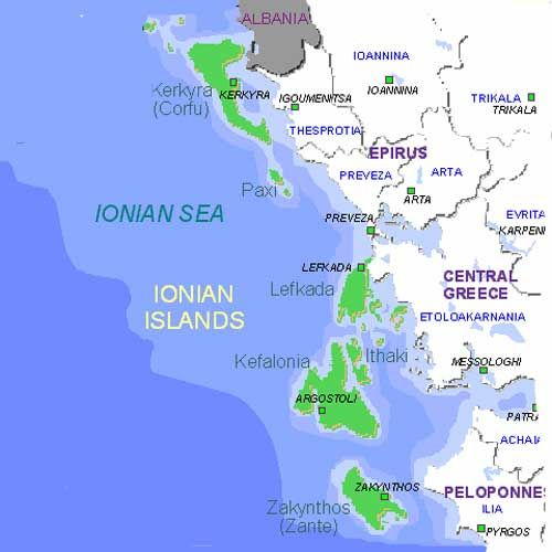 Ionian Islands Map Google Search