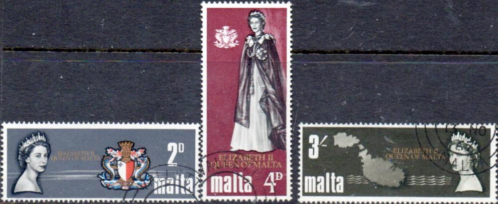Malta 1967 Royal Visit Set Fine Mint SG 396/8 Scott 374 Other Malta Stamps HERE