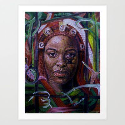 African woman Art Print by manzola - $22.88
