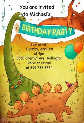Dinosaur Birthday Invitation Template Free Greetings Island Dinosaur Birthday Party Invitations Dinosaur Birthday Invitations Dinosaur Birthday Party