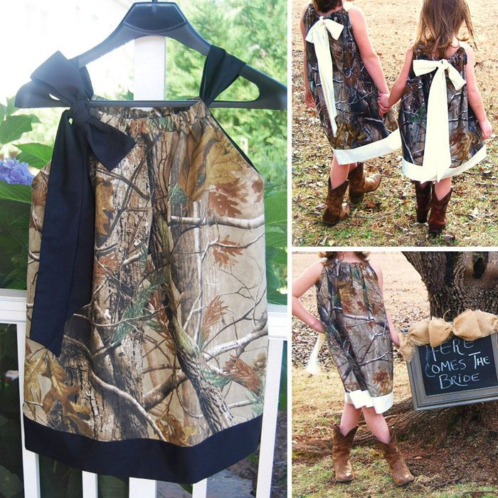 Country Camo Wedding Ideas: Camo Flowergirl Dress Made With Realtree
